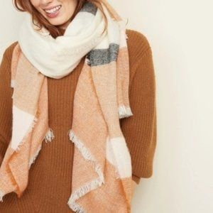 Old Navy Beige Brown Oversized Scarf/Wrap NEW